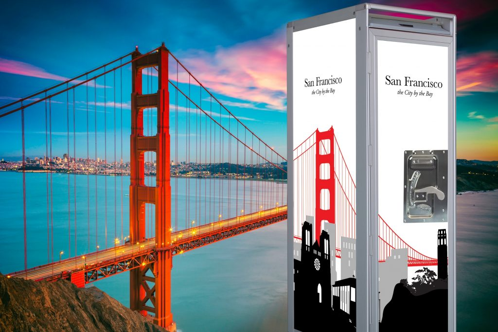 SkyCart™ in front of Golden GateBridge